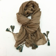 plain color hijab jersey cotton scarf 2017