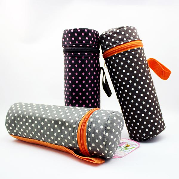 Custom Polka Dot Bottle Cooler Bag Aluminium Foil Water