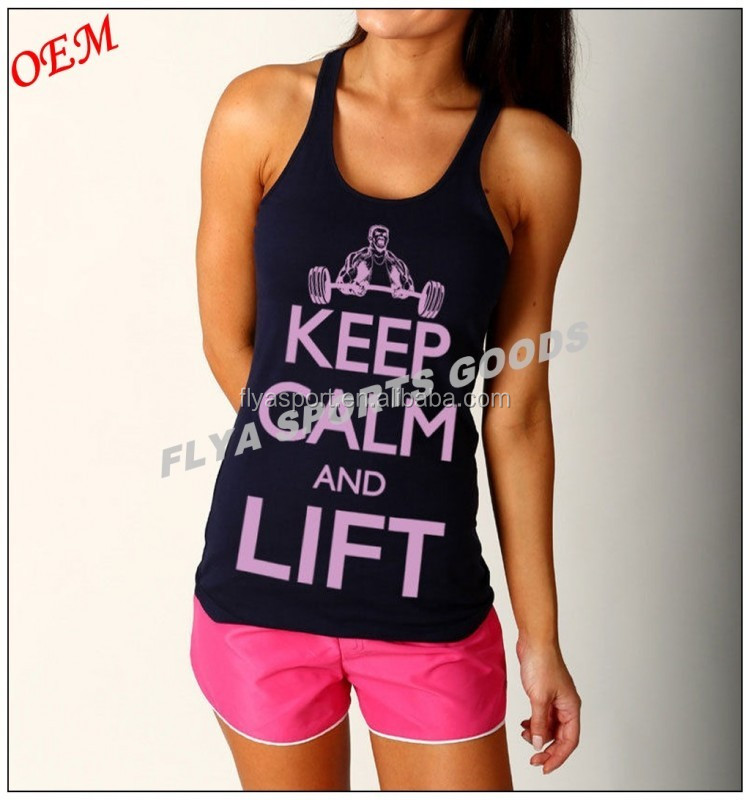 Fashionable Ladies 100% Cotton Tank Top, Sexy Womens Tank Top with Racer Back