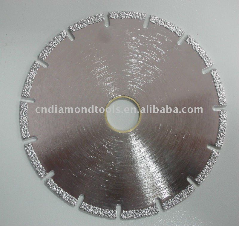 Vacuum brazed Diamond Dry Cutting Saw Blade for granite/ marble /concrete /tile /brick