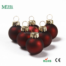 1 inch Popular sale small glass christmas balls with dark color