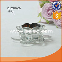 lotus shape flower shape glass candle holder colored glass candle jar