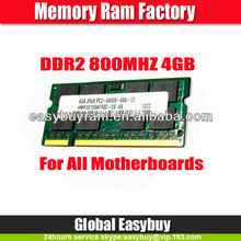 Used laptop computer motherboard ram memory 4gb ddr2 800