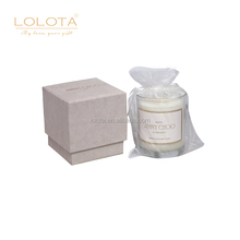 Wholesale high-end home decoration glass jar natural scented soy wax candle