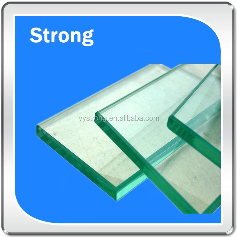 high quality and high precision OEM custom made Clear Safety Building Tempered Glass for Bathroom Door
