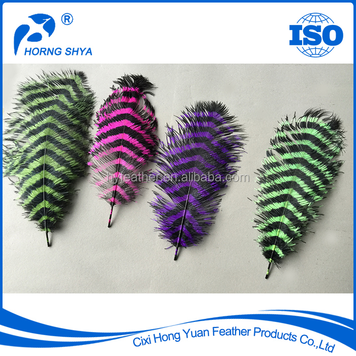 Free Sample Cheap Excellent Quality Dyed Colored Customized OEM Feather Fringe Ostrich Feather Products