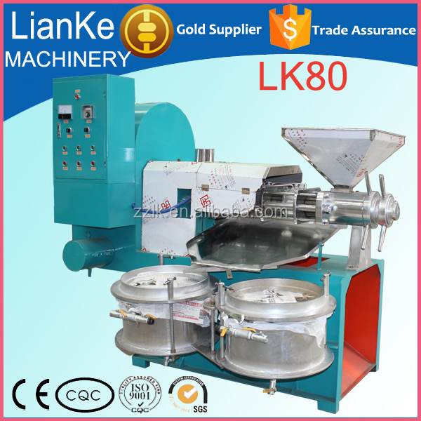 LK80 spiral oil press machine/peanut sunflower sesame almond palm kernel oil extraction machine/cheap mini oil mill prices