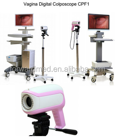 Brand new digital electronic colposcope price with pink color HD camera