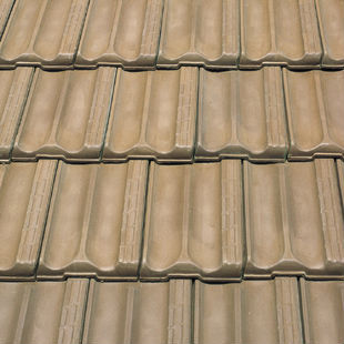 "Spanish ""Brown"", ""Marseilles"", flat ceramic roof tile, made of clay"