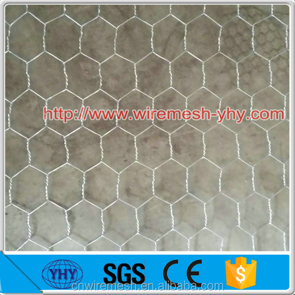 Galvanized hexagonal mesh/chicken wire netting 3/4 inches