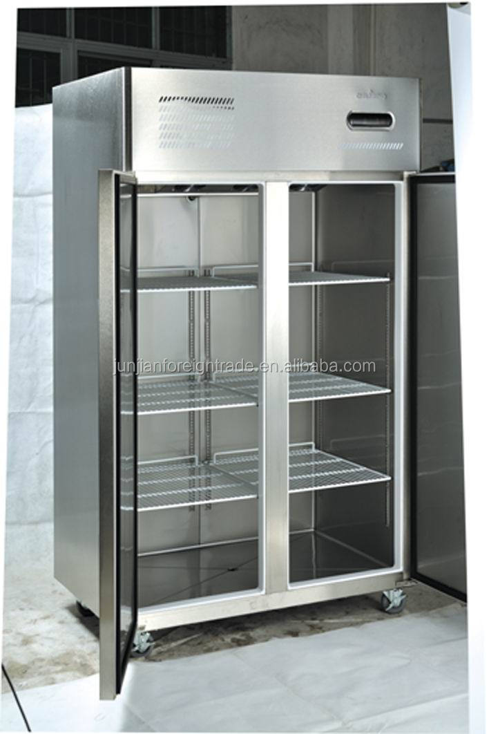 Cheering Refrigeration Equipment Vertical Glass Door Refrigerator