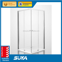 sliding door 6 mm portable toilet and shower room