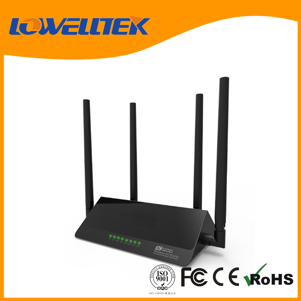 long range 1200MBPS dual band wireless wifi router rj45 wan port