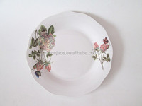 restaurant serving dishes and plates with printings