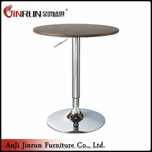 Durable fashion height led popular bar cocktail table