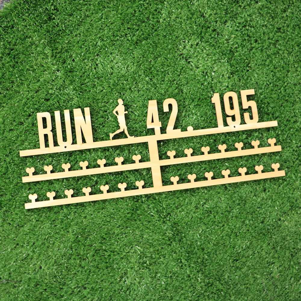 Home Decor New Wall Decor Wooden Running Medal <strong>Display</strong>