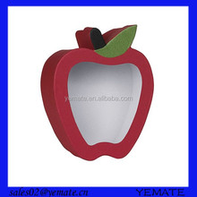 Cute apple shaped cardboard candy paper packaging box with lid for wedding