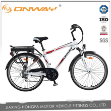 ONWAY 28 inch bulk cheap green city electric bike with 36V 9Ah