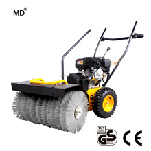 Garden machine road sweeper petrol small sweeper