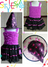 2014 New Arrival little witch costume / party dress for halloween /Girl Frocks for Costume party