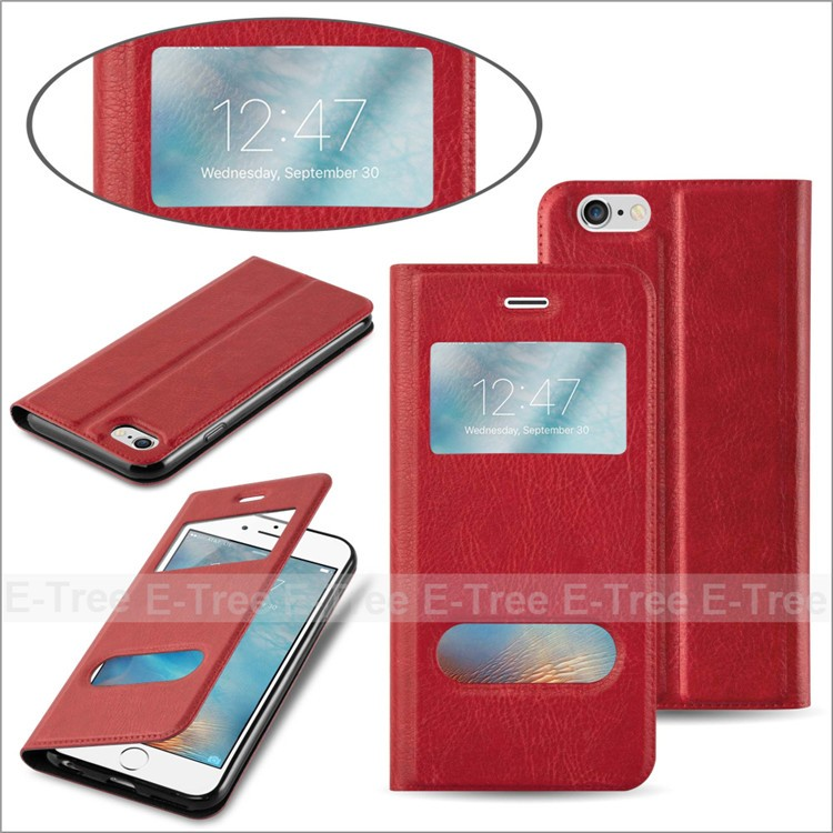 Universal supply OEM / ODM service shockproof pu leather stand flip wallet case for iPhone 7