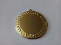 shiny brass embossed leaves cutting edges metal blank medal with ribbon custom sport or award medals wholesale