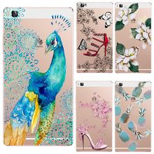 TPU Cover For Huawei P6 7 8 P8Lite P9 P9Plus P9Lite Honor7 Mate7S MateS Case Multi Colored Flowers Cheapest Price Cute Painting