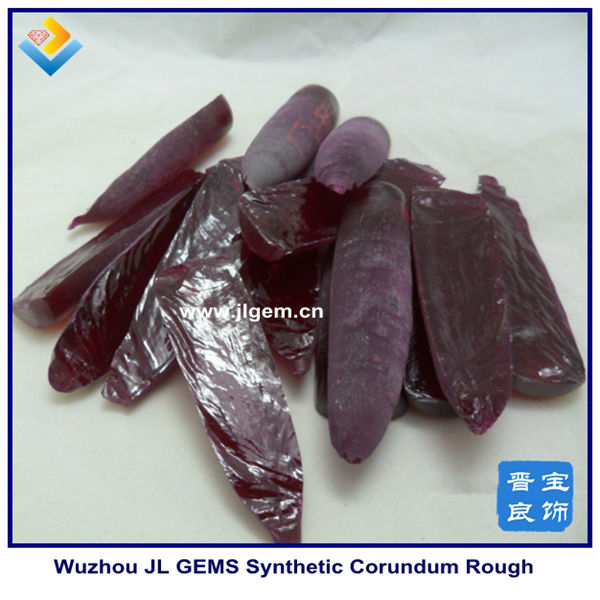Half boules synthetic corundum ruby rough prices