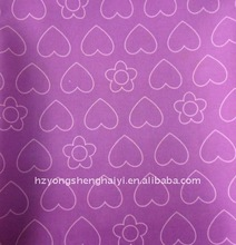 pvc coated oxford fabric with heart print use for schoolbags