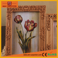 High end decorative carving wooden photo frame