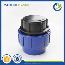 PP compression fitting plastic pipe end cap for water hose
