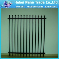 Aluminum Picket Spear Steel Wall Fence, Wrought Iron Like Spear barrier wall Fences