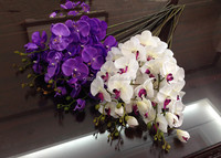 2015 colorful high quality best price butterfly orchid bouquet for decoration, silk butterfly orchid