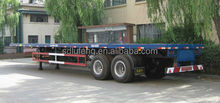 Dual-axle Flatbed Semi-trailer for container carrier