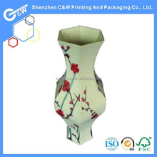 C&W design paper gift box like fancy showman vase