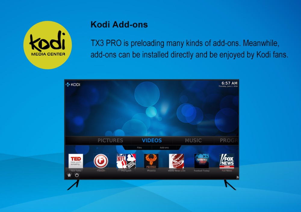 2016 Best Price TX3 pro Kodi 16.1 Amlogic S905X quad core 1G DDR3 8G EMMC tv box android 6.0 TX3 pro