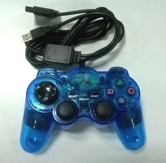 2 in 1 Wired double-interface controller joystick for PS2 and PC