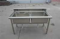 Customized Mobile Undermount Double Equal Square Bowl stainless steel kitchen sink