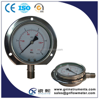 screw type pressure gauge, 1 inch pressure gauge, bezel ring pressure gauge