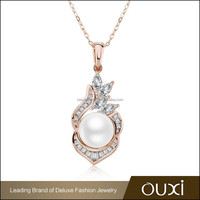 OUXI 2015 best selling 18k gold plated faux pearl jewelry set