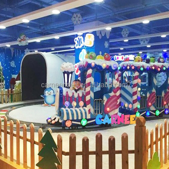 New Developed Indoor Playground Candy Style 14 Seats Kids Electric Train