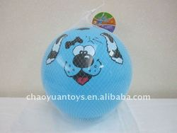 23CM print dog pattern inflatable ball SP603810
