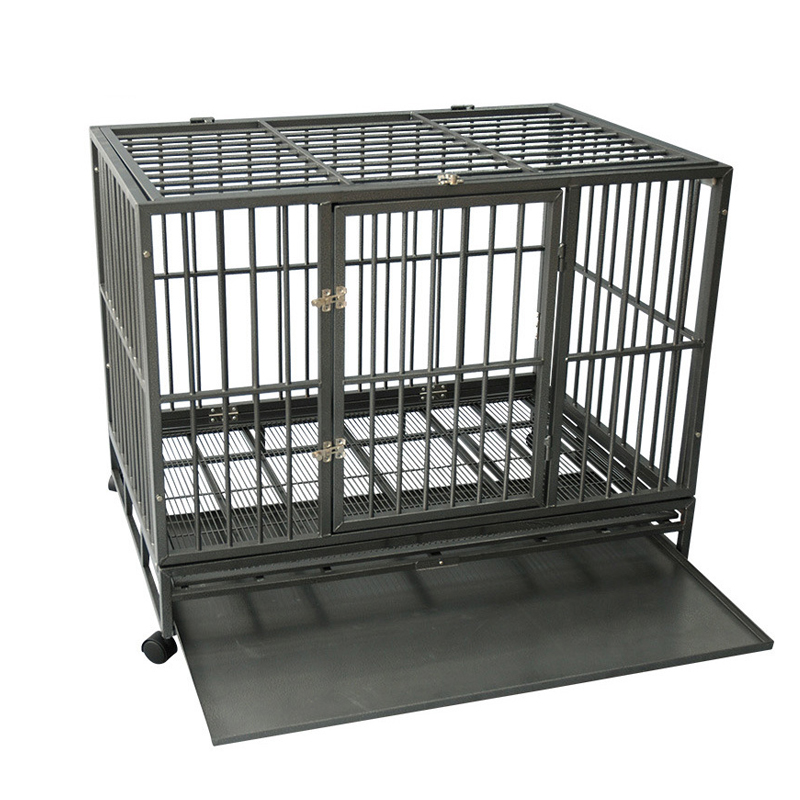 indoor outdoor heavy duty folding square tube dog crate