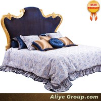 AMF9101-French bed set design antique reproduction furniture wholesale