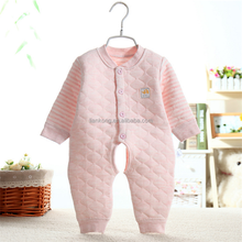 Good quality new baby warm Baby Rompers clothes Long Sleeve evening crawl dress