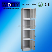 Vertical Steel storage cupboard with four individual locking doors