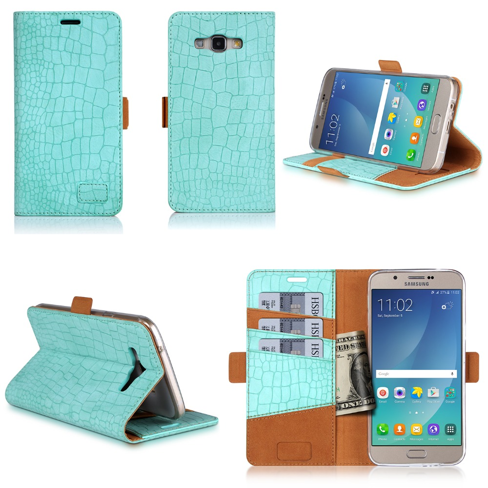 2016 Wholesale Product Wallet Cover Smart Cell Phone Case For Samsung Galaxy A8