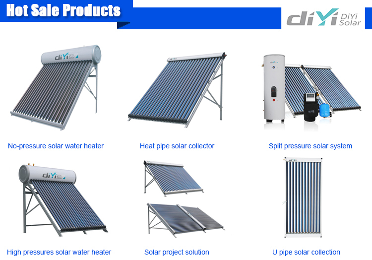 High absorption 50l mini solar water heater for yemen market