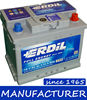 "12 V 60 Ah MF Maintenance Free ""Erdil Brand"" Car Battery"