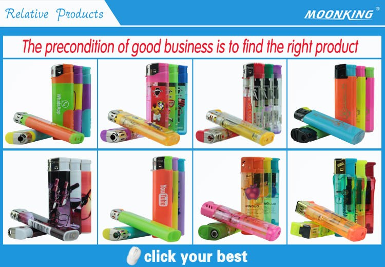 Personalized logo printed easy light cigarettes electric windproof led lamp lighters